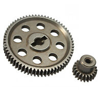 Metal Spur Differential Gear 64T Motor Pinion Cogs for HSP 1/10 RC Car Truck