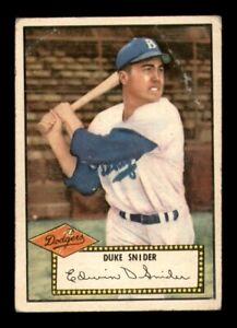 1952 Topps Set Break #37 Duke Snider GD *OBGcards*
