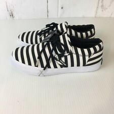 New listing Supra Mens Cuba Skate Shoes White Black 08105-027 Stripe Lace Up Low Top 8M New
