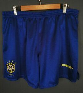 UMBRO MEN'S BRAZIL NATIONAL BRASIL 1994/1995 SHORTS FOOTBALL SOCCER BLUE SIZE XL
