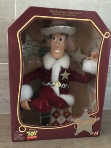 DISNEY PIXAR 1999 TALKING HOLIDAY HERO WOODY TOY STORY BRAND NEW IN BOX SANTA