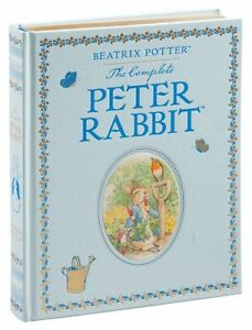 THE COMPLETE PETER RABBIT Leather bound Illustrated Beatrix Potter ~NEW ~SEALED~