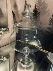 Decorative Glass Sweet Jar Wedding Cart Storage Sweet Candy Decoration 25 CM
