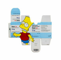 Bart on Ritalin Poster by Ben Frost Signed The Simpsons Print x/40 SOLD OUT