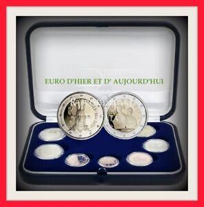 COFFRET ITALIE 2021 BE 10 pièces avec 2€ gracie et 2 euros ROME 1500 EX RARE!!!!