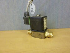 Burkert Direct-Acting Solenoid Valve Type 6013 A 1/4  FKM BR G 1/4 36PSI 120VAC