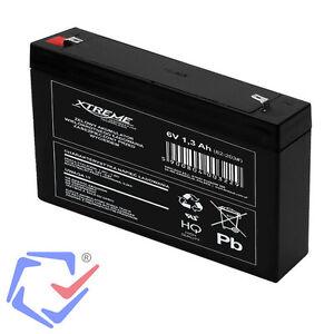 Gel Akku AGM Batterie 6V 1,3Ah 1,3 Ah Gelakku Ersatzakku Battery  Wartungsfrei