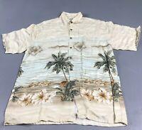 Moda Campa Moda MCM Men's M Hawaiian Shirt Button Down Top Tiki Beach Medium