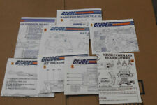 ✪G.I Joe✪ Cobra Complete set of 1982 blueprints MOBAT RAM VAMP MMS HAL FLAK JUMP