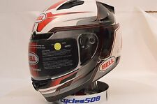 Bell Vortex Marker Red Full Face Motorcycle Helmet XL NIB 7081097