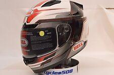 Bell Vortex Marker Red Full Face Motorcycle Helmet Md NIB 7081095