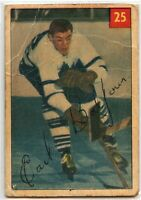 1954-55 Parkhurst Hockey #25 Earl Balfour RC F-G Condition (*2020-13)