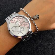 NEW Women's 2018 Luxury Steel Strip Wrist Watch T Bear Wristwatches Red  #3