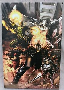 Marvel Comic Heroes for Hire #1 Giclee on Canvas Limited Edition 89/99 with COA