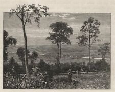 The Emu Plains and Nepean River. The Blue Mountains. Australia 1890 old print