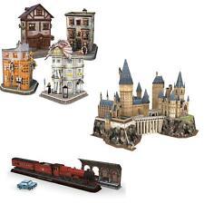 Harry Potter 3D Rompecabezas Jigsaw Oficial Hogwarts Castillo, tren, Diagon Alley