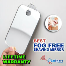 Great Shave Fogless Suction Cup Mount Shower Shaving Travel Mirror GUARANTEED