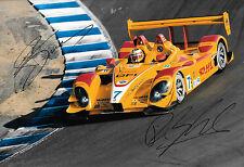 BERNHARD/DUMAS signé 12x8, LMP2 Porsche RS Spyder, L'aumône Laguna Seca 2008