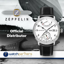 ZEPPELIN LZ129 Hindenburg Watch Auto Power Reserve German made White dial 7060-1