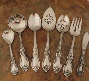 Oneida Louisiana 7 Serving Pieces Spoon Ladle Community Stainless Flatware Lot S