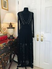 Zara Black Dress Mesh Tulle Lace Dress Dress Size Small