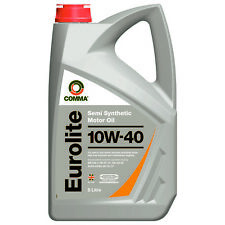 Comma Eurolite 10W-40 Semi Synthetic Motor Engine Oil 5L 10W40 Petrol Diesel
