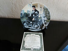 Bradford Exchange Elvis Young & Wild Collectible Plate #2 King of the Road Coa