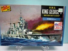 "Lindberg 1:750 Scale "" H.M.S. King George "" British Battleship Model # Hl447/12"