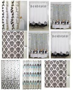 Modern Design Bathroom Shower Curtain Curtains With Hooks Standard Size180x180cm