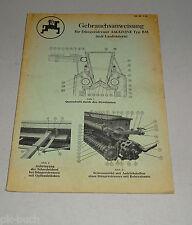 Istruzioni D'Uso / Manuale Amazone Spandiconcime Tipo Bm Stato 05/1956