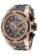 New Invicta Men's 14408 Bolt Chronograph Grey Dial Grey Rose Gold Watch