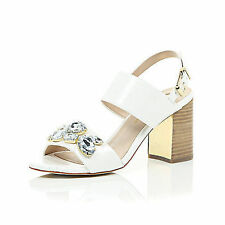 River Island Women's Block Heel Sandals and Beach Shoes