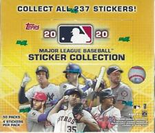 2020 Topps MLB Sticker Collection Baseball New 50-PACK STICKER BOX=200 Stickers