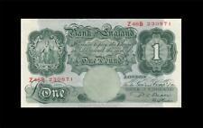 """1949-55 BANK OF ENGLAND 1 POUND **Sig. Beale** """"Z"""" (( EF ))"""