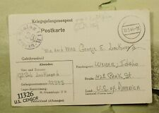 DR WHO 1944 GERMANY POW FREE FRANK POSTCARD TO USA WWII CENSORED  f32488