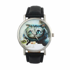BLACK ALICE IN WONDERLAND CHESHIRE CAT WATCH 1ST CLASS POST.ONLY 1 LEFT