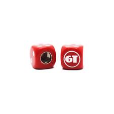 GT BMX Dice Tire Valve Caps (Pair) - Red