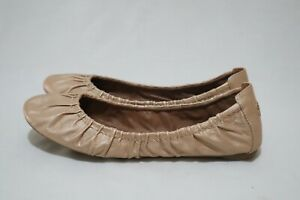 Lucky Brand Blue Jeans America Size 12 Womens Leather Pleat Detail Ballet Flats
