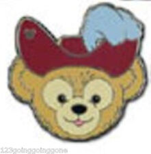 CAPTAIN HOOK Duffy's Hats Teddy Bear PIRATE 2013 Hidden Mickey Disney Pin 94936