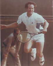 JOHN MCENROE 8 X 10 PHOTO WITH ULTRA PRO TOPLOADER
