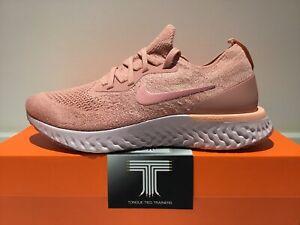 """Nike Epic React Flyknit """"Pink Tint"""" ~ AQ0070 602 ~ Uk Size 7.5 ~ Euro 42"""