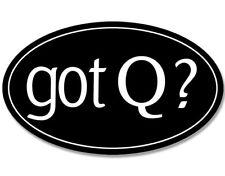 3x5 inch Oval GOT Q? Sticker  - qanon q conservative pro trump reddit anon love