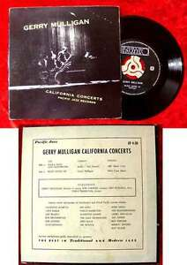 EP Gerry Mulligan: California Concerts (Pacific Jazz EP 4-28)
