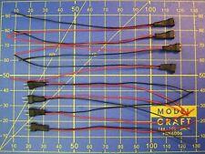 4 paires MICRO-CONNECTEUR  M/F 2 fils câble souple 0,5 mm 10 cm éclairage wagon
