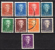 Dutch New Guinea - 1950 Definitives Juliana - Mi. 10-18 VFU