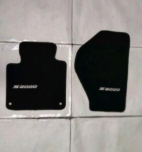 For 00-08 Honda S2000 Floor Mat Carpets Black Nylon 2PC W/Emblem