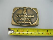 Vintage 1981 Anacortes Continental Oil Drilling Company Belt Buckle Solid Brass