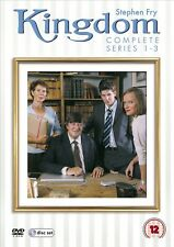 KINGDOM 1, 2, 3 (2006-2009)  COMPLETE Stephen Fry Solicitor Series R2 DVD not US