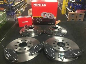 FOR AUDI A4 A5 1.8 2.0 TDI TFSI QUATTRO FRONT REAR MINTEX BRAKE DISCS AND PADS