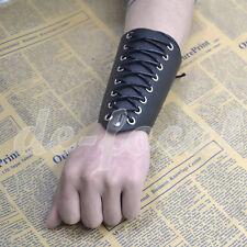 Punk Armband Handgelenkbandage Handgelenkschoner Stulpe Kunstleder Deko Stütze